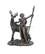 PTC 10.25 Inch Greek Goddess Diana Artemis and Moon Statue Figurine - $55.43