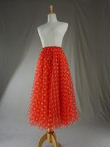 Women Polka Dot Skirt High Waisted Full Circle Tulle Skirt Polka Dot Party Skirt image 7