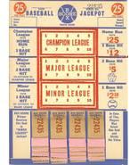 vintage punch board pull tab baseball gambling rare 1940s - $29.99