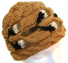 Do it up Brown Hand Knit Hat - $25.00