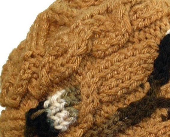 Do it up Brown Hand Knit Hat
