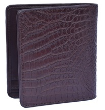 Superb Syrup Brown Many Card Slots Premium Crocodile Leather Bifold Wallet - $179.99