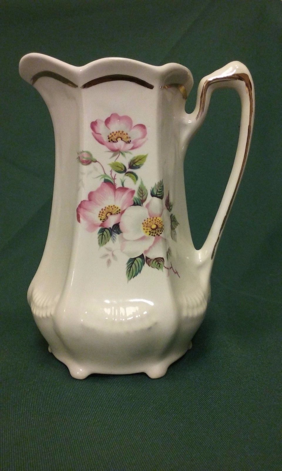 Vintage Wild Briar Rose Pitcher from the House of Webster