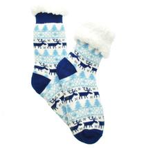Urban-Peacock Plush Knitted Fleece Sherpa Lined Slipper Socks- Reindeer ... - $10.95