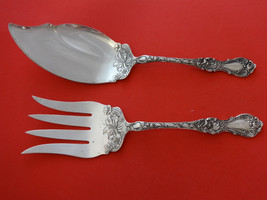Floral by Wallace Plate Silverplate Fish Serving Set 2pc - $212.90