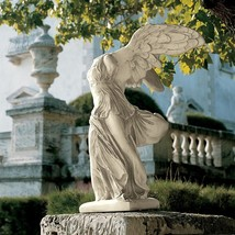 Nike of Samothrace Statue Winged Goddess Garden Decor Outdoor Ornament L... - $342.53