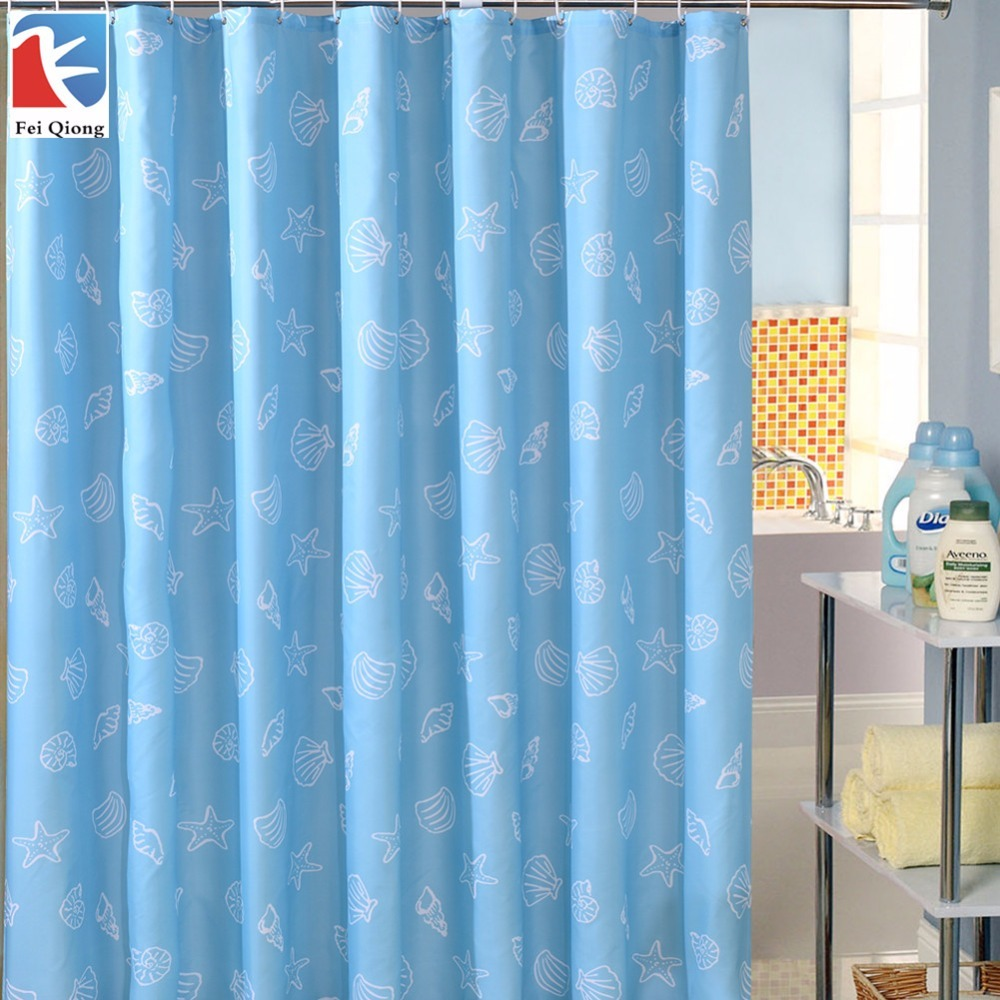 G brand 180 180cm 1pcs blue sea stars waterproof shower curtains 100 polyester for home bathroom