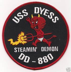 US Navy DD-880 USS Dyess Destroyer Patch