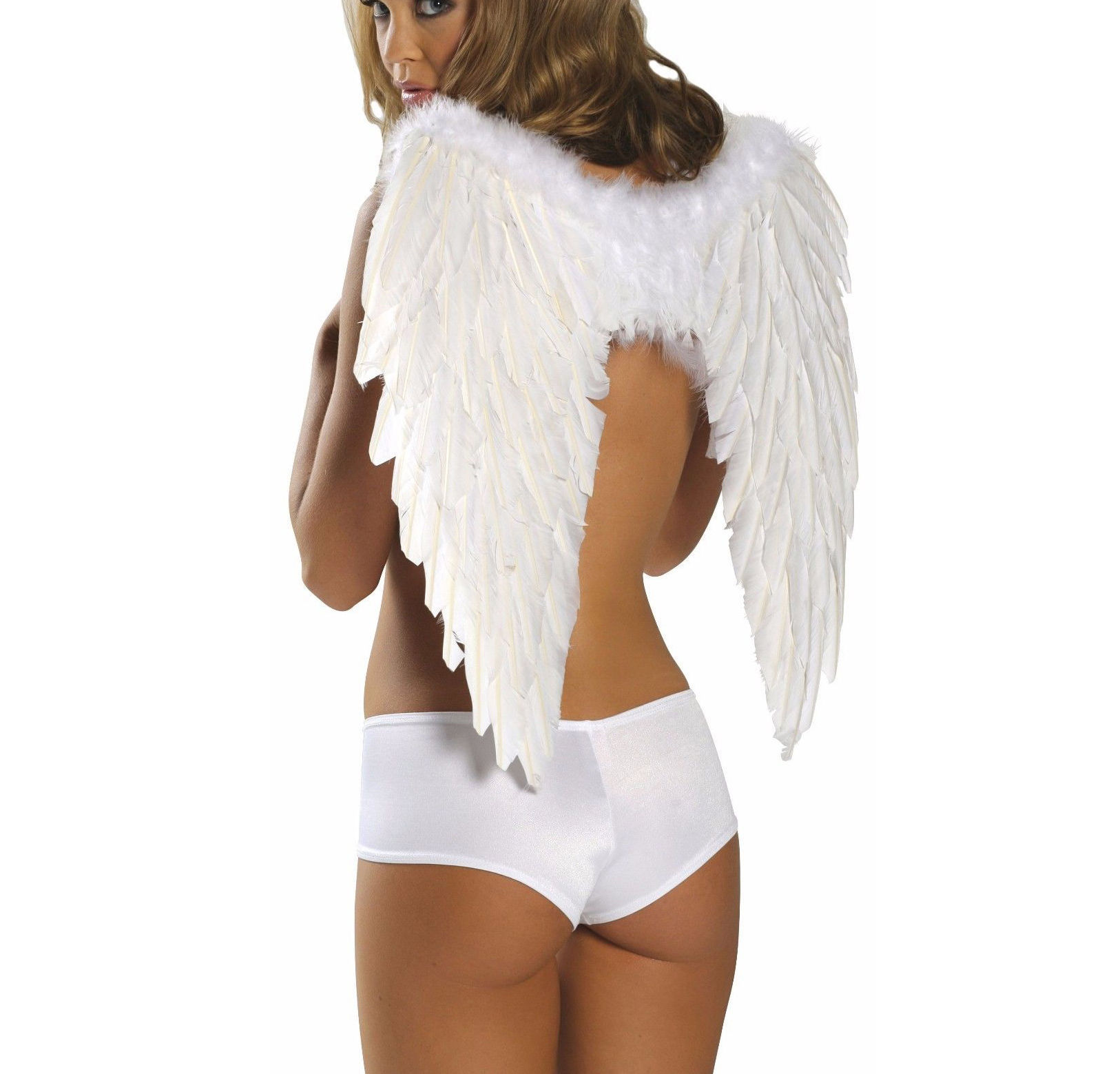 ANGEL FEATHER WINGS White Or Black Womens Girls Costume Cosplay 1361