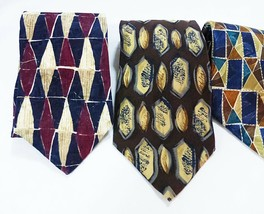 Men neck tie work tie geometric medallion lot of 4 - $12.81