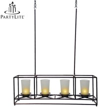 PartyLite® 4-Candle Bronze Framework Chandelier and Centerpiece - $52.87