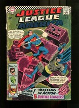 JUSTICE LEAGUE 32-1967-SUPERMAN AND BATMAN COVER G - $18.62