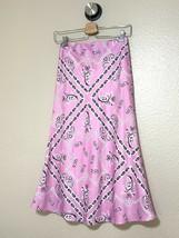 4SI3NNA Pink Bandana Print High Waisted Valeria Midi Skirt Size Small NWT - $29.69