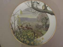 A COUNTRY CHURCH IN MARCH collector plate PETER BARRETT Country Year OWL - $28.00