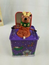 2005 Hallmark Pop Goes the Reindeer 3rd Jack-in-the-Box  Ornament Purple image 2