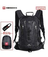 BDF ORIGINAL Swisswin UNISEX Travel Backpack Large Capacity BLACK 15.6 L... - $82.45