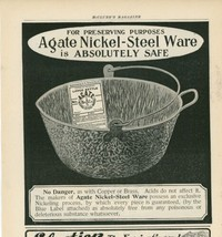 1904 Agate Nickel Steel Ware Ad Cooking Pots Pans Kettle Kitchen Vintage... - $10.00