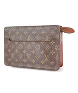 Authentic LOUIS VUITTON Pochette Homme Monogram Clutch Bag #33590 - $229.00