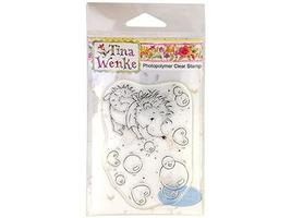 Tina Wenke Hedgehog Popping Bubbles Clear Stamp #WDS91