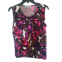 nwt Floral Top Blouse black/pink M - $20.00