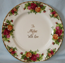Royal Albert Old Country Roses to Mother with Love Salad Plate - $19.69