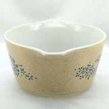 Pyrex 473 Homestead Blue Floral Speckled Vintage Baking Serving Casserole Dish image 4