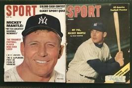 SPORT MAGAZINE Mickey MANTLE Cover 1956 & 1967 NY YANKEES HOF - $79.00