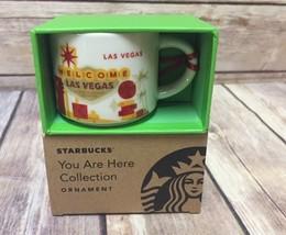 Starbucks Las Vegas You Are Here Ceramic Ornament Mini Mug New - $37.39