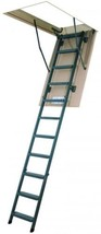 Attic Ladder Insulated Steel Durable 12 Steps New Adjustable Portable In... - $342.49