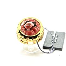 RING ANTICA MURRINA VENEZIA WITH DISC WITH MURANO GLASS RED GOLDEN AN205A14 image 3