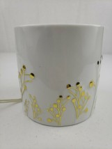 YANKEE CANDLE GREENERY COLLECTION WHITE & GOLD CANDLE HOLDER & WARMER RE... - $36.75