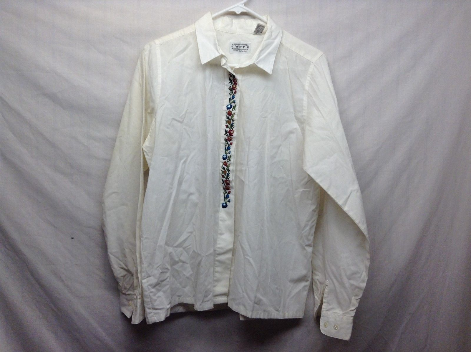Witt Ivory Blouse w Beautiful Floral Embroidery Sz 14