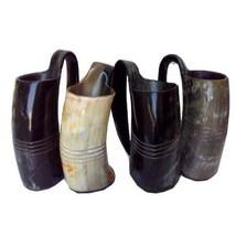 Handmade Item Set of 4 Norwegian Viking Drinking Horn Mug Beer wine Mead... - £74.77 GBP
