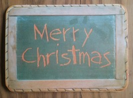VINTAGE HALLMARK GREETINGS CARD ~ MERRY CHRISTMAS ~ CHALKBOARD ~ SPONGE ... - $4.94
