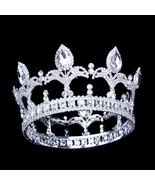 9.5cm/3.74in Height Men Crown King Tiaras Full Circle Round Trendy Cryst... - $75.35