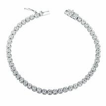 5df0e7f02 3 Carat Round Cut Diamond Tennis Bracelet 14k White Gold Women's -