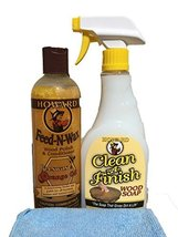 Howard Clean A Finish Natural Wood Soap 16 Ounce, Plus Feed N Wax Wood P... - $23.53