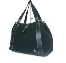 Auth BURBERRY LONDON BLUE LABEL Canvas Leather Black Shoulder Bag B2352L - $198.00