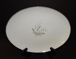 Kaysons Fine China Golden Rhapsody Oval White Serving Platter 12 Inch Go... - $26.72