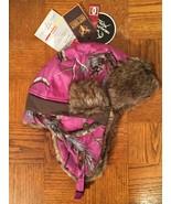Realtree Hot Shot Magenta Camo Sabre Trapper Bomber Hat Ladies Size Medium - $21.24
