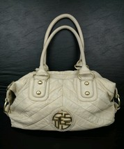 Guess Taupe Faux Leather Gold Colored Hardware Hobo Shoulder Bag (S) - $11.89