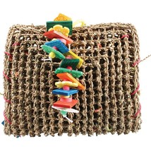 A&e Cage Multi Happy Beaks Vine Mat Forage Pouch Bird Toy - £30.66 GBP