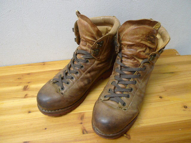 visvim vintage processed leather mountain boots US9 brigadier 7hole beard boots