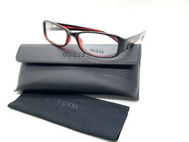 GUESS GU1564 BLKRD Women's Eyeglasses Frames 52-16-135 Black / Red + CASE - $31.98