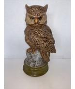 """Vintage Ceramic OWL sitting on Stump 12 1/4"""" - $15.00"""