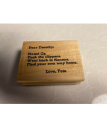 Effie Glitzfingers Rubber Stamp Dear Dorothy: Hated Oz, Took the Slipper... - $4.90
