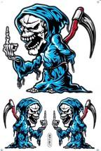 D509 Skull Head Bones Dead Decal Racing Tuning Size 27x18 cm / 10x7 inch - $3.49