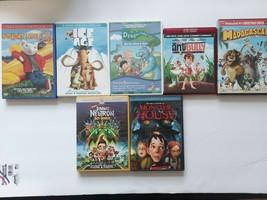 Kids Cartoon Dvd Lot Of 7 Jimmy Neutron Monster House AntBully Madagasca... - $7.91