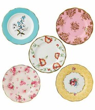 "Royal Albert 100 Years 1950-1990 Plate Set 8"" Multicolor 5 Piece #400175... - $198.00"