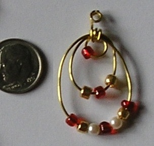 Red and Gold Earrings (Large)
